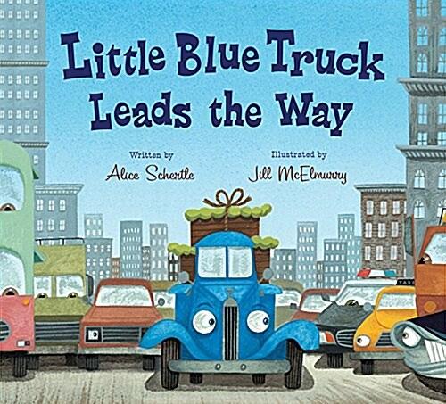 Little Blue Truck Leads the Way (Board Book)