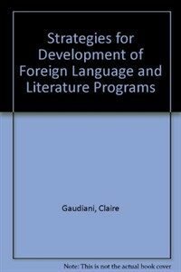 Strategies for development of foreign language & literature programs