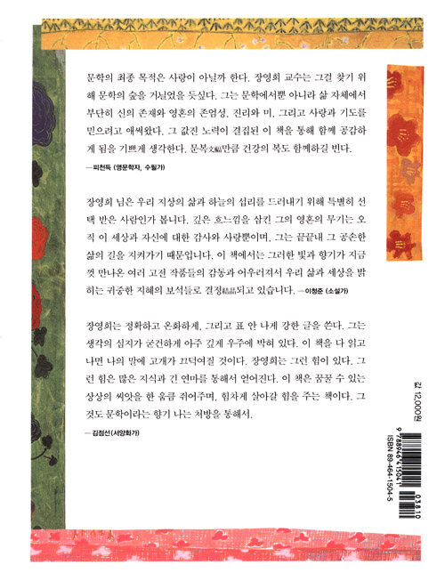 문학의 숲을 거닐다 : 장영희 문학 에세이