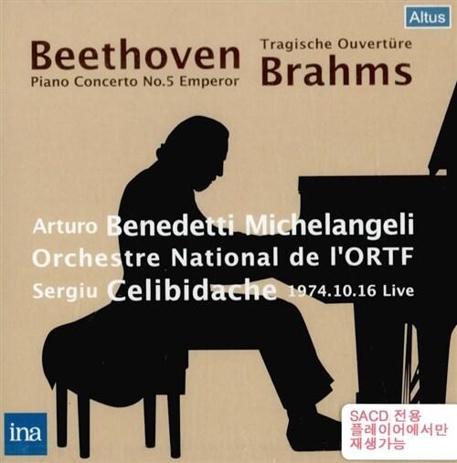 [수입] 베토벤 : 피아노 협주곡 5번 황제 & 브람스 : 비극적 서곡 [SACD 전용]