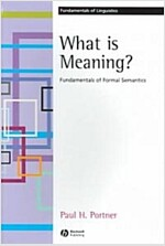 What is meaning? : Fundamentals of formal semantics (Paperback)