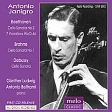 [수입] 베토벤 : 첼로 소나타 5번 Op. 102-2 / 바흐 : 독주 소나타 중 안단테 / 베토벤 : 마술피리 주제의 7개의 변주곡 WoO 46 [디지팩]