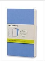 Moleskine Volant Journal (Set of 2), Pocket, Plain, Powder Blue, Royal Blue, Soft Cover (3.5 X 5.5) (Other)