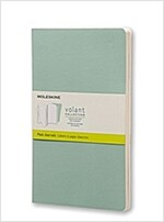 Moleskine Volant Journal (Set of 2), Large, Plain, Sage Green, Seaweed Green, Soft Cover (5 X 8.25) (Other)