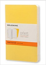Moleskine Volant Journal (Set of 2), Pocket, Ruled, Sunflower Yellow, Brass Yellow, Soft Cover (3.5 X 5.5) (Other)
