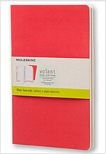 Moleskine Volant Journal (Set of 2), Large, Plain, Geranium Red, Scarlet Red, Soft Cover (5 X 8.25) (Other)