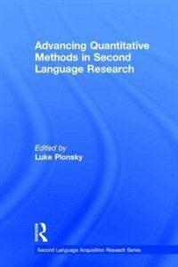 Advancing quantitative methods in second language research