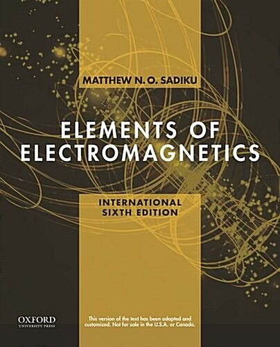 Elements of Electromagnetics (Paperback, 6 Revised edition)