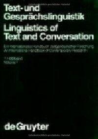 Text- und Gesprächslinguistik : ein internationales Handbuch zeitgenössischer Forschung