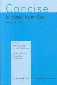 Concise European patent law 2nd ed