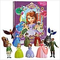 My Buisy Book - Disney Sofia the first (미니피규어 12개 포함) (Board book)
