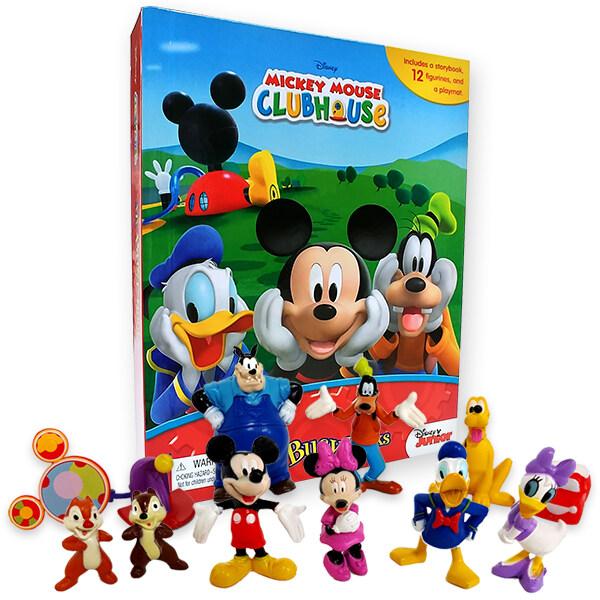 My Busy Book : Mickey Mouse Clubhouse 미키마우스 클럽하우스 비지북 (미니피규어 10개 + 놀이판)