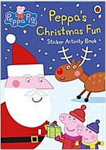 Peppa Pig: Peppa's Christmas Fun Sticker Activity Book (Paperback)