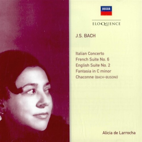 [수입] 알리시아 데 라로차가 연주하는 바흐 작품