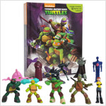 Teenage Mutant Ninja Turtles My Busy Book 닌자거북이 비지북 (미니피규어 12개 + 놀이판)