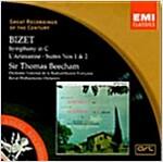 [중고] Georges Bizet - Symphony In C  / L'Arlesienne Suites : Sir Thomas Beecham