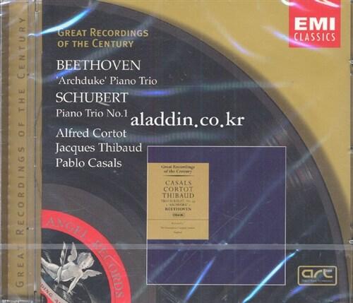 [수입] Ludwig Van Beethoven / Franz Schubert - Piano Trio : Cortot / Thibaud / Casals