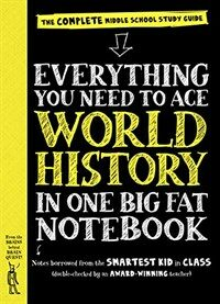 Everything You Need to Ace World History in One Big Fat Notebook: The Complete Middle School Study Guide (Paperback)