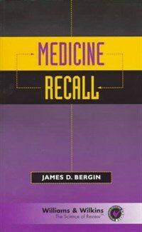 Medicine recall 1st ed
