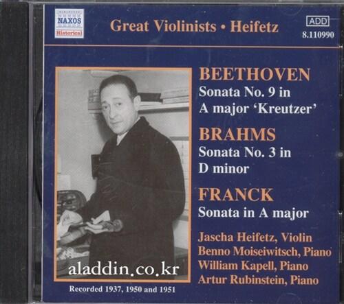 [수입] 베토벤 : 바이올린 소나타 9번 크로이처 / 브람스 : 바이올린 소나타 3번 / 프랑크 : 바이올린 소나