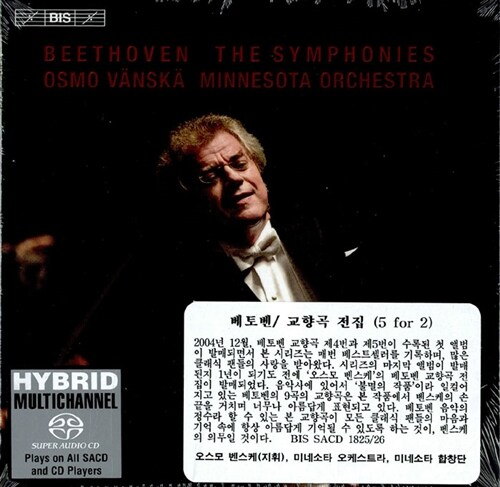 [수입] 베토벤 : 교향곡 전집 [5 For 2 SACD Hybrid]