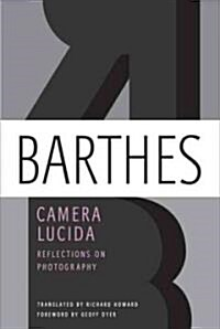 Camera Lucida: Reflections on Photography (Paperback)