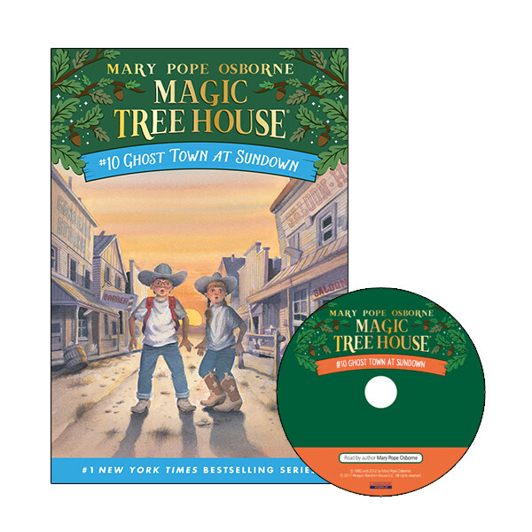Magic Tree House #10 : Ghost Town at Sundown (Paperback + CD)