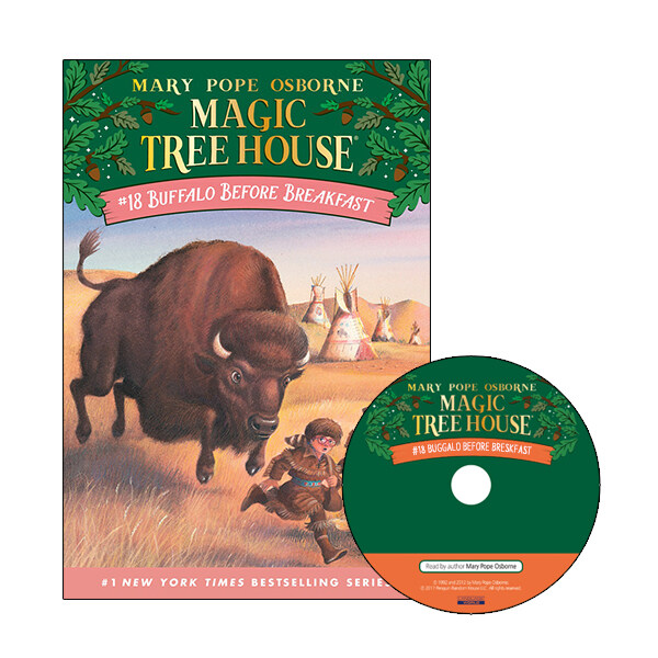 Magic Tree House #18 : Buffalo Before Breakfast (Paperback + CD)
