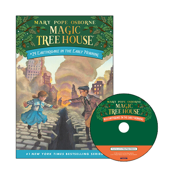 Magic Tree House #24 : Earthquake in the Early Morning (Paperback + CD)