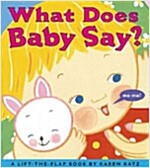 What Does Baby Say?: A Lift-The-Flap Book (Board Books, Repackage)