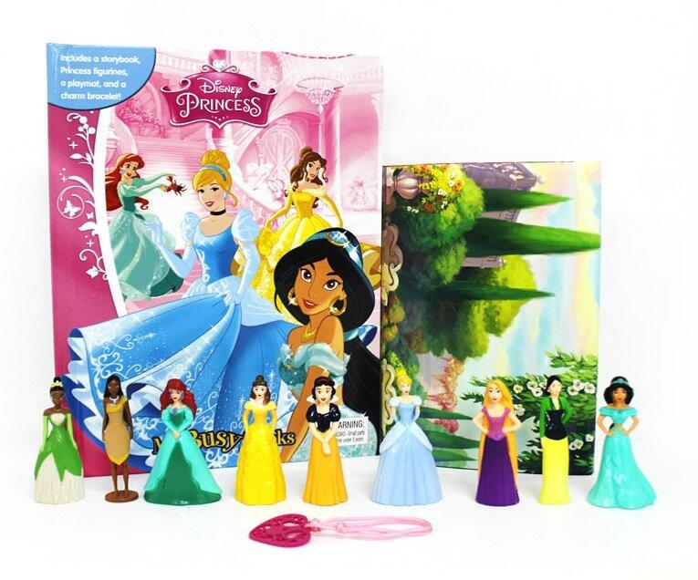 My Busy Books : Disney Princess 디즈니 프린세스 비지북 (미니피규어 9개 + 팔찌 + 놀이판)