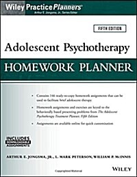 Adolescent Psychotherapy Homework Planner (Paperback, 5)