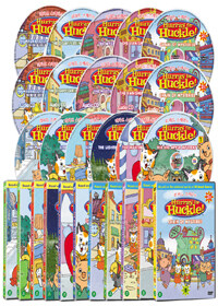 리차드 스캐리의 고양이 탐정 허클 1+2집 16종 시리즈 (16disc: 11DVD+5CD)