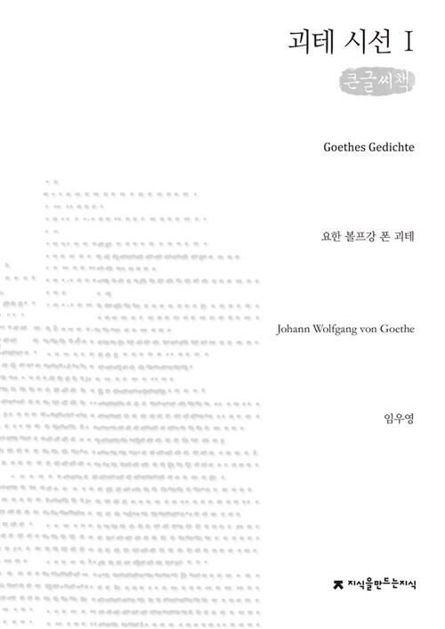 괴테 시선 1 (큰글씨책)