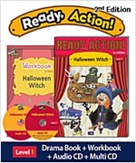 Ready Action 2E 1: Halloween Witch [Student Book + Workbook + Audio CD+ Multi-CD]