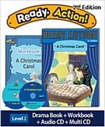 Ready Action 2E 2: A Christmas Carol [Student Book + Workbook + Audio CD+ Multi-CD]