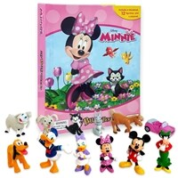 My Busy Book : Disney Minnie 미니마우스 비지북 (미니피규어 12개 + 놀이판)