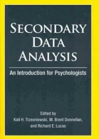 Secondary data analysis : an introduction for psychologists 1st ed