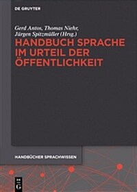 Handbuch Sprache im Urteil der Öffentlichkeit