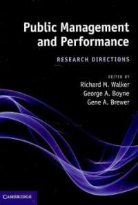 Public management and performance : research directions