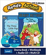 Ready Action 2E 2: The Three Little Pigs (Student Book + Workbook + Audio CD + Multi-CD , 2nd edition)