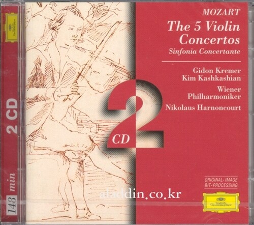 [수입] 모차르트 : 바이올린 협주곡 1-5번 & 신포니아 콘체르탄테 K.364