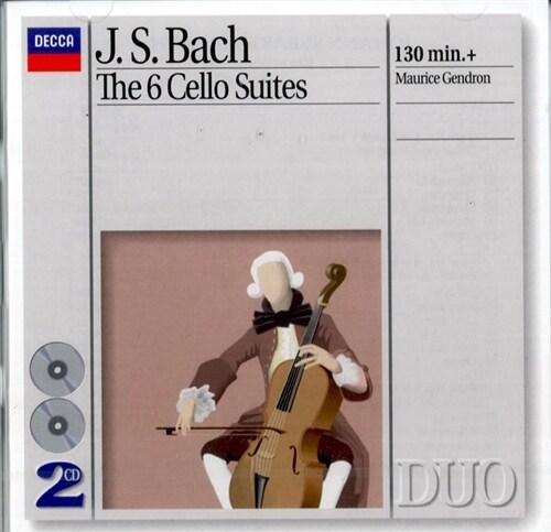 [수입] 바흐 : 무반주 첼로 모음곡 전곡