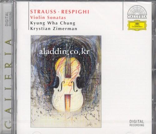 [수입] R.쉬트라우스 & 레스피기 : 바이올린과 피아노를 위한 소나타