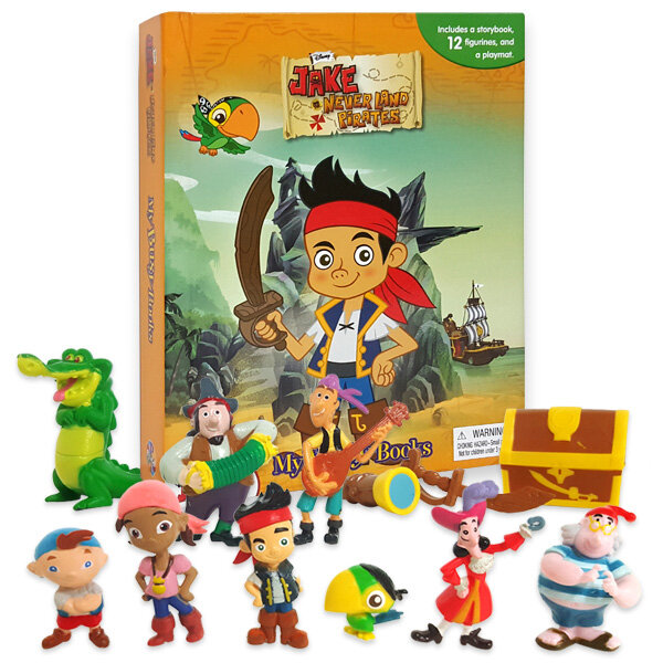 My Busy Books: Jake & the Never Land Pirates 제이크와 네버랜드 해적들 비지북 (미니피규어 12개 + 놀이판)