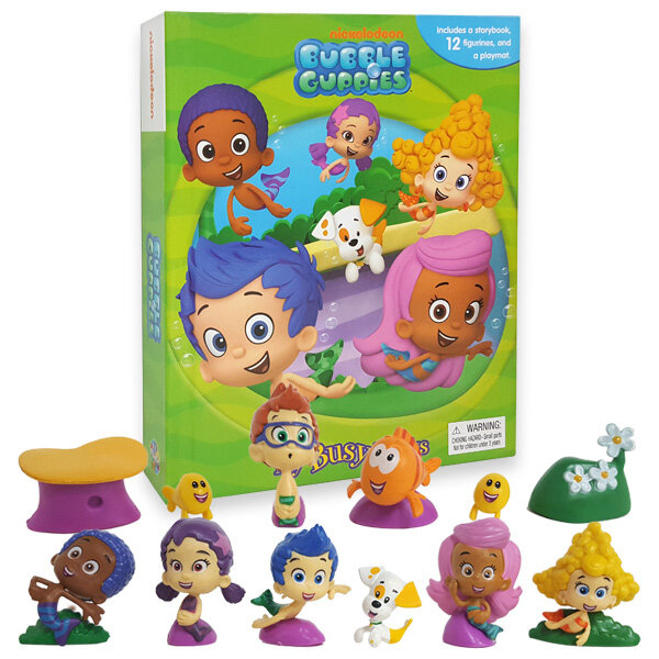 My Busy Books : Bubble Guppies 버블 거피스 비지북 (미니피규어 12개 + 놀이판)
