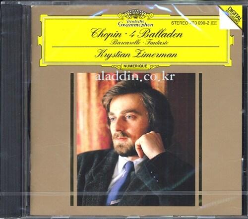 [수입] 쇼팽 : 4곡의 발라드, 뱃노래 Op.60 & 환상곡 Op.49