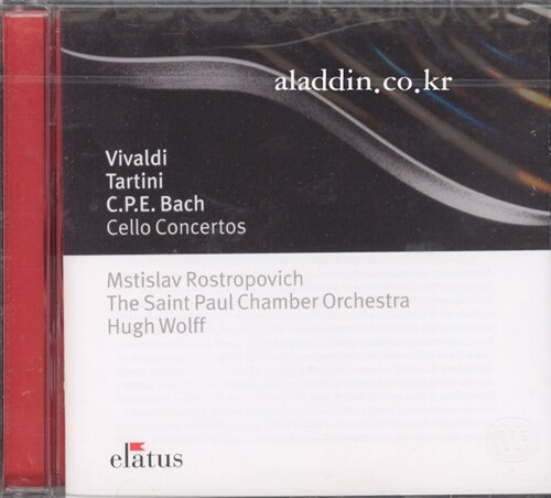 [수입] 비발디 & 타르티니 & C.P.E 바흐 : 첼로 협주곡