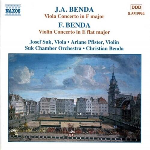 [수입] 프란츠 벤다: 바이올린 협주곡 & 지리 안톤 벤다 : 비올라 협주곡