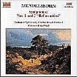 [수입] Mendelssohn : Symphonies Nos. 1 & 5